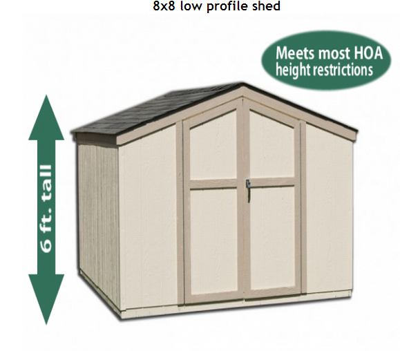 Low Profile Sheds : Sallas low profile storage shed