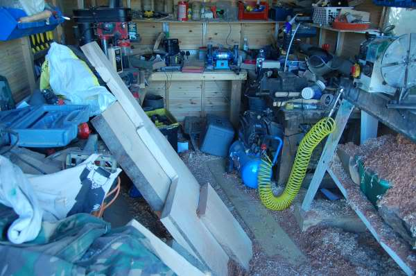 how to clean sheds