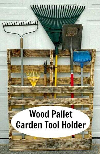 If you have a wood pallet taking up space in your garage or shed, put ...