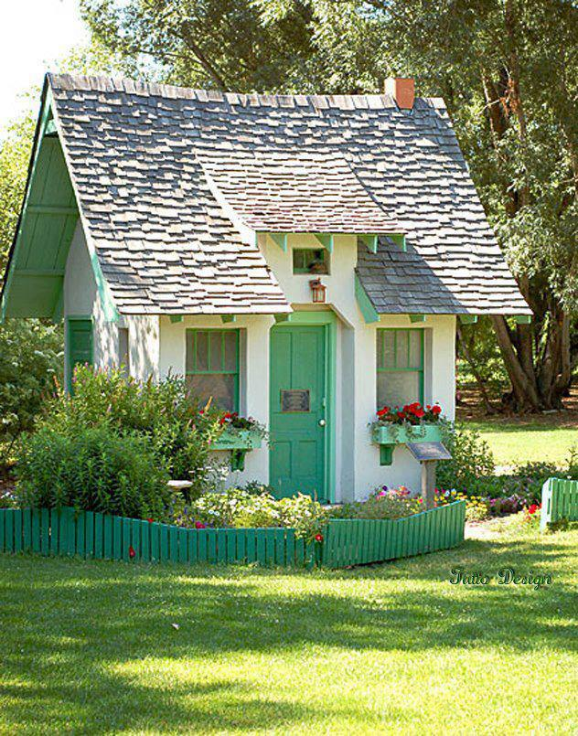 Our favorite shed makeovers from backyards across the world for Cutest house in the world