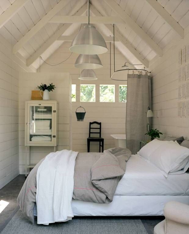 Turn your shed into a summer living room or backyard den for Backyard guest room
