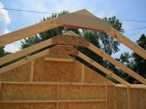 cheap storage sheds with rafters