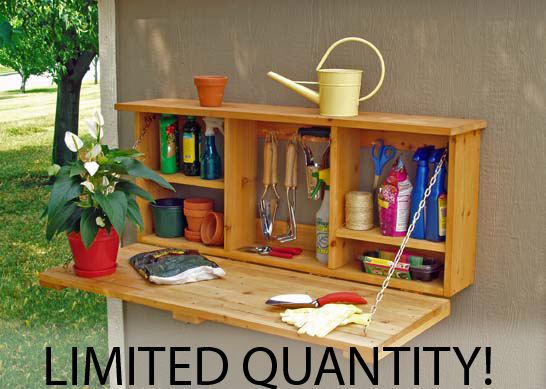 Learn how accessories can make shed organization fun and easy for Patio organization ideas