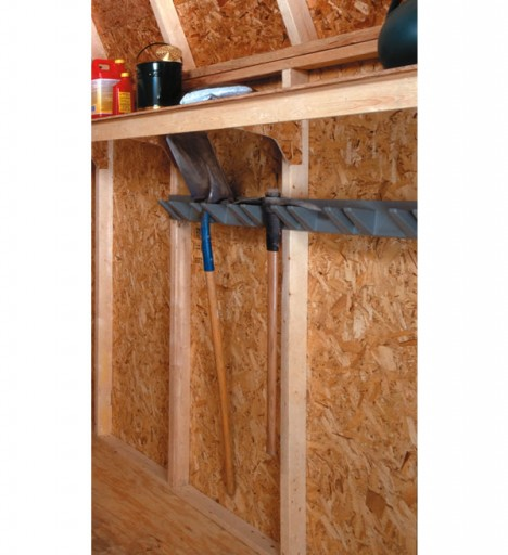 Learn how accessories can make shed organization fun and easy for Garden shed organization ideas