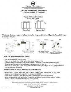 permits for sheds