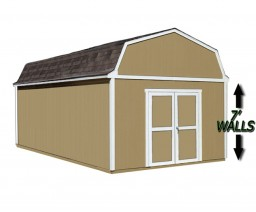 12 x 20 shed for living space