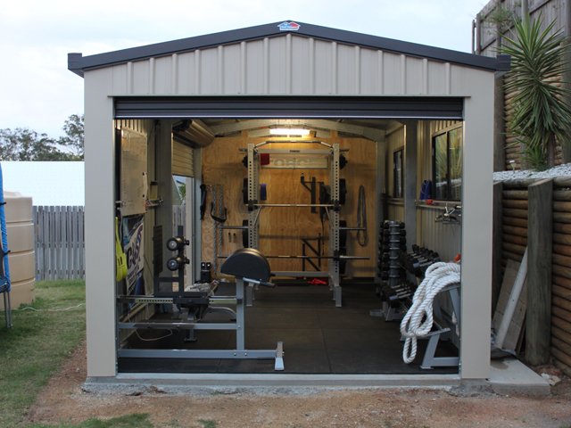 Benefits of turning your backyard shed into a gym shed for Costruendo un garage per 2 auto