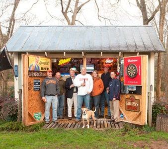 wooden mancave shed