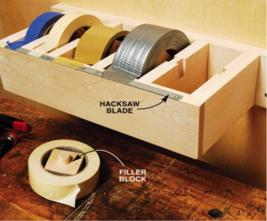 heavy duty tape dispenser for garage shed