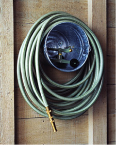 ideas to organize hose in shed