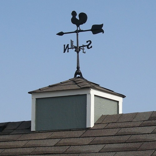 shed cupola and weathervane