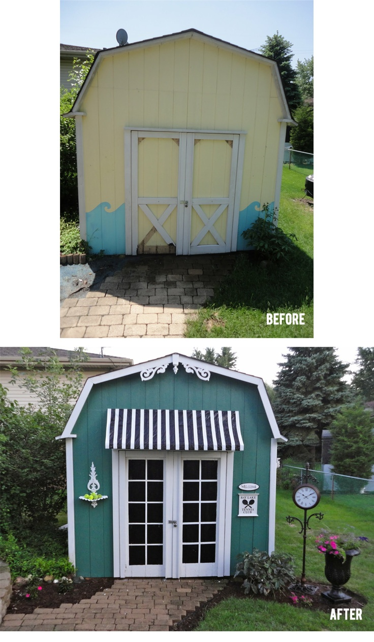 This Barn Style Shed Was Redone For Only $40! From General Splendour.