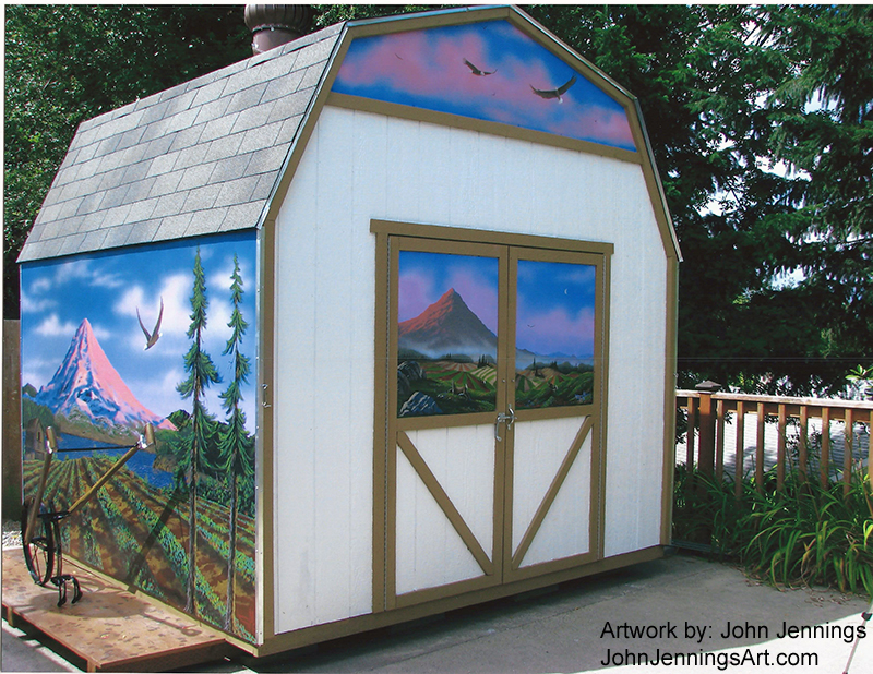 cool shed makeover