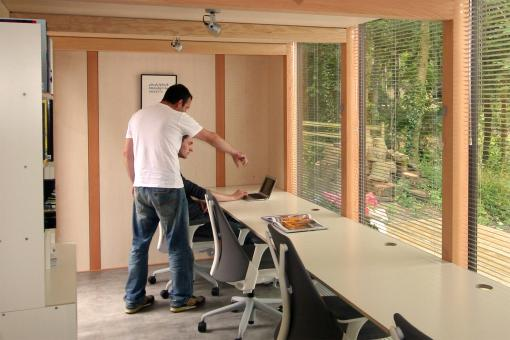 Some coworking spaces are even using sheds. From Shedworking.co.uk