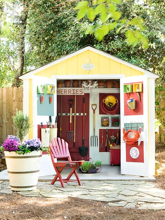 bright bold shed paint job