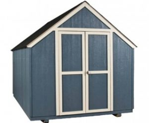 Blue gable shed