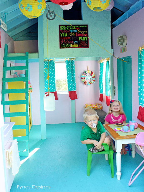 Brilliant kid colors make a Kid Cave the best place to play! Source: Fynes Designs