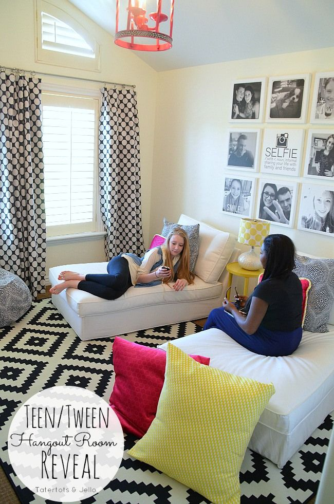 Teen Kid Cave, simple and relaxing. They'll love it! Source: Tater Tots and Jello