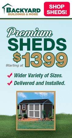 Shop for Sheds at Backyard Buildings and More!