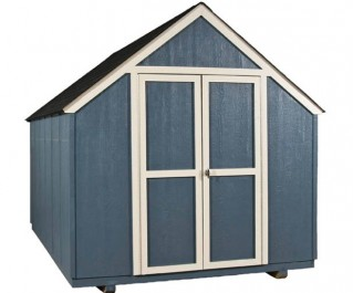This 8x12 garden shed is strong on the inside & out.