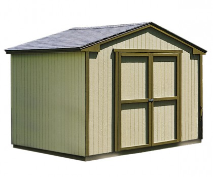 "10x8 shed on sale with 64"" double doors."