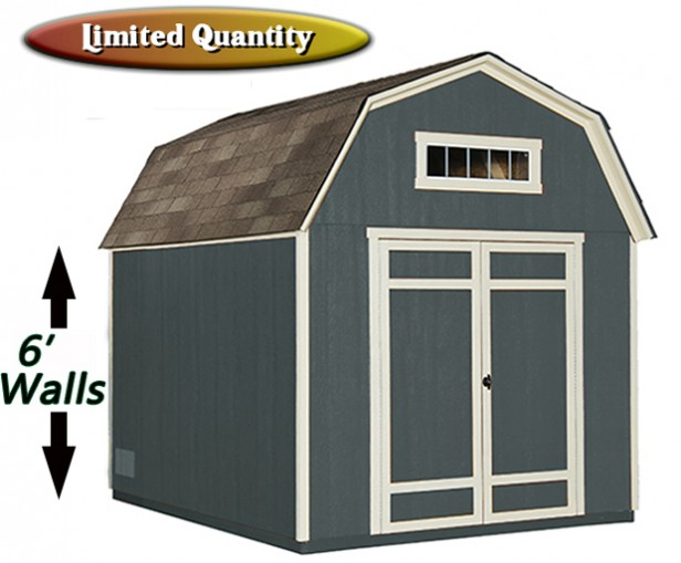 8x10 barn style shed with transom window | shed liquidators
