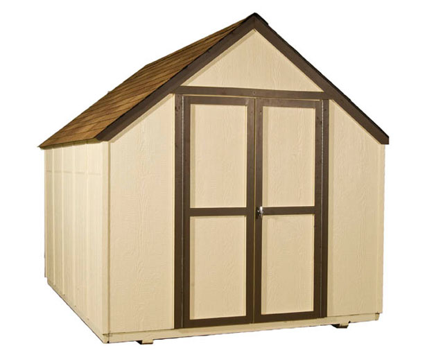 8 x10 outdoor wood shed backyard tool storage solution