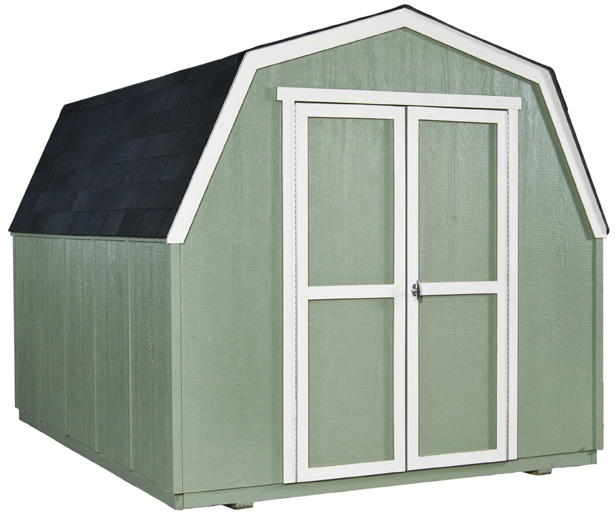 8x10 Wooden Shed With 519 Cubic Feet Of Storage Space.