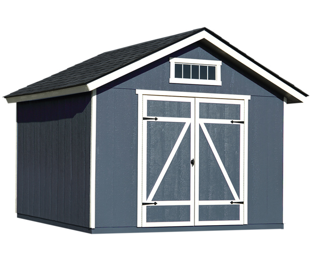 10x10 Shed With Shelf Loft For Garden Tool Storage