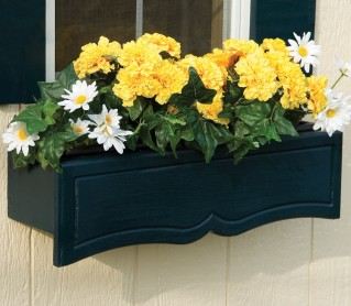 Upgrade your shed with a functional flower box!