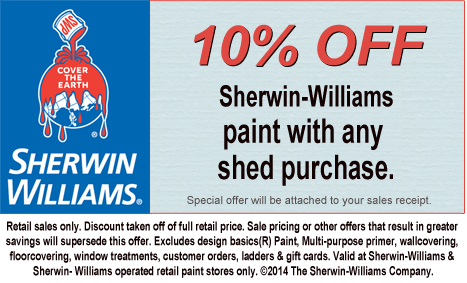 Sherwin-Williams paint shed discount