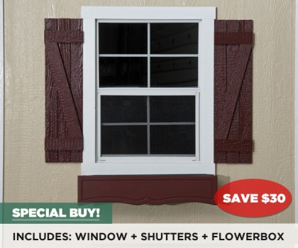 Window package adds tremendous curb appeal.