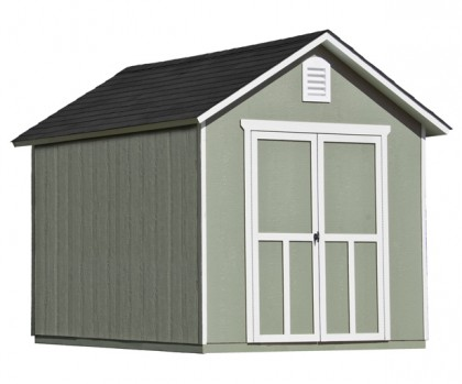 This 8x10 shed features elegant styling and a robust 2x4 construction.